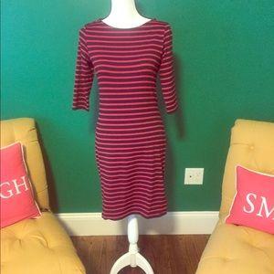 St. James Red & Navy Stripe Dress